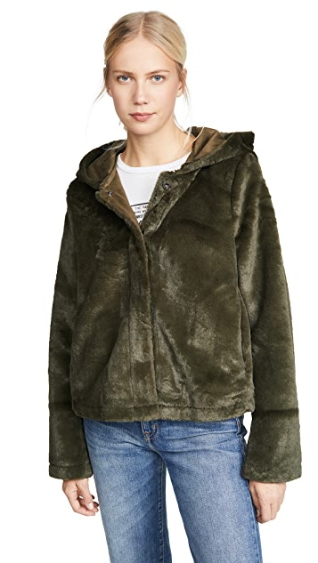 Line & Dot Andi Reversible Faux Fur Jacket