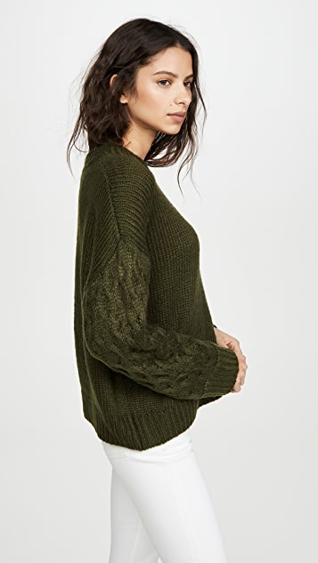 Line & Dot Juniper Cable Sleeve Sweater