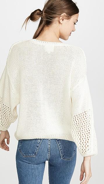 Line & Dot Posy Sweater