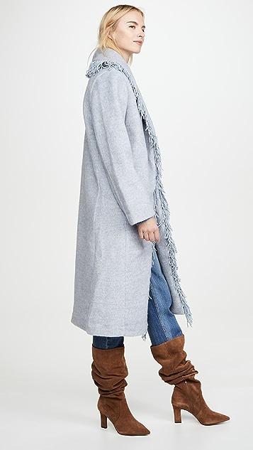 Line & Dot Linda Fringe Coat