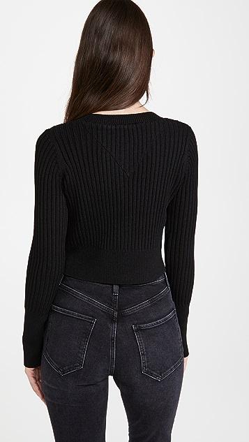 Line & Dot Mariah 罗纹毛衣开襟衫