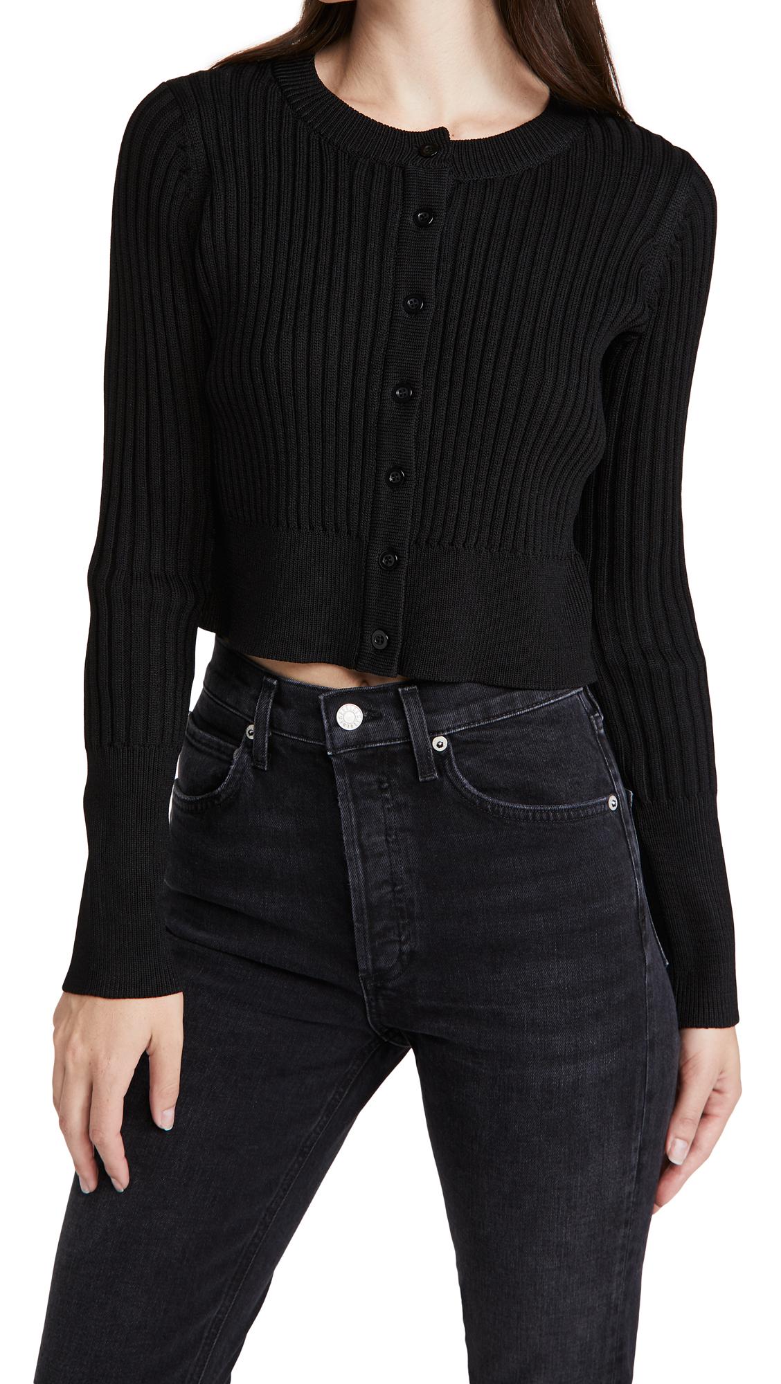 Line & Dot Mariah Ribbed Sweater Cardigan