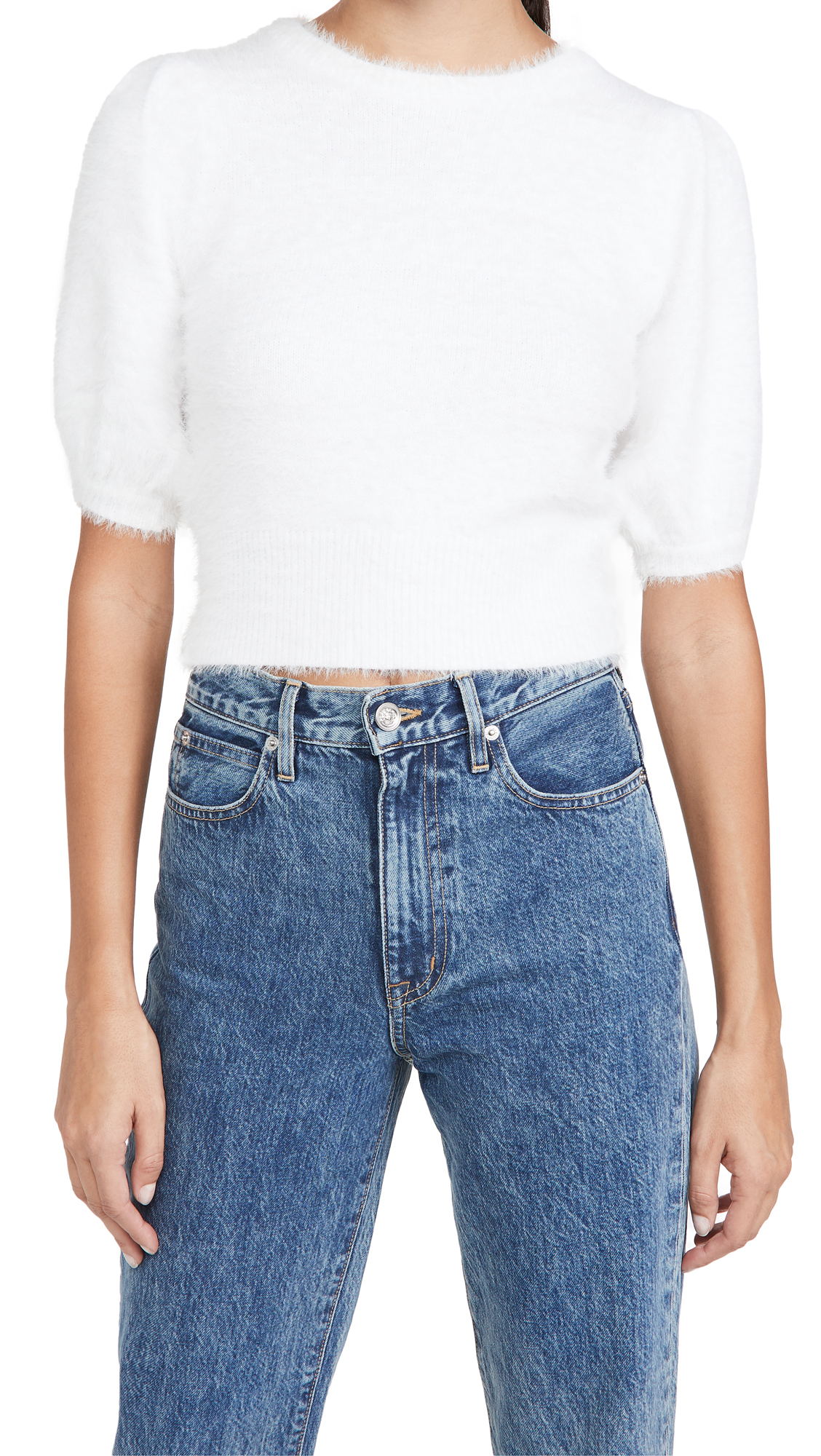 Line & Dot Harper Fuzzy Sweater