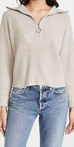 Line & Dot - Emily Half Zip Sweater