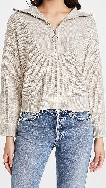 Line & Dot Emily Half Zip Sweater