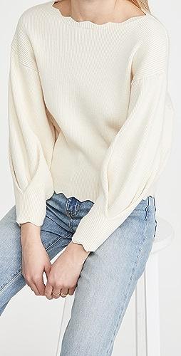 Line & Dot - Harper Scallop Sweater