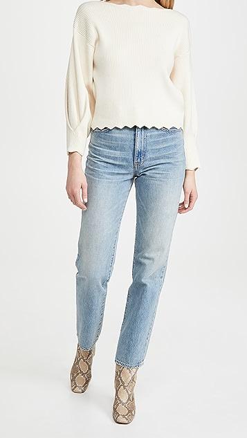 Line & Dot Harper Scallop Sweater
