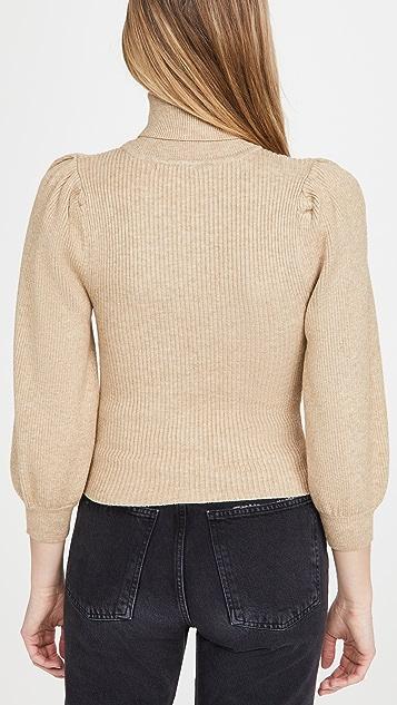 Line & Dot Aria Puff Sleeve Sweater
