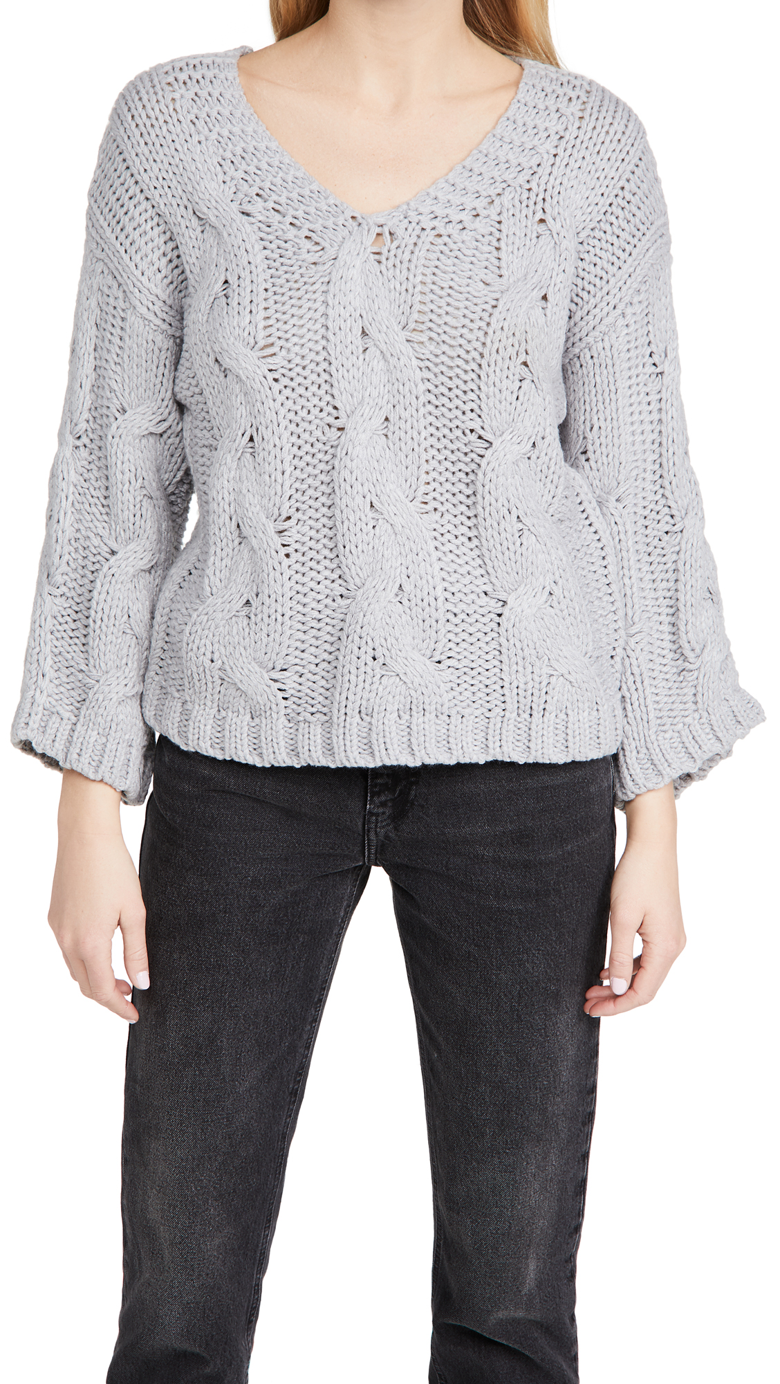 Line & Dot Kaylee Chain Knit Sweater