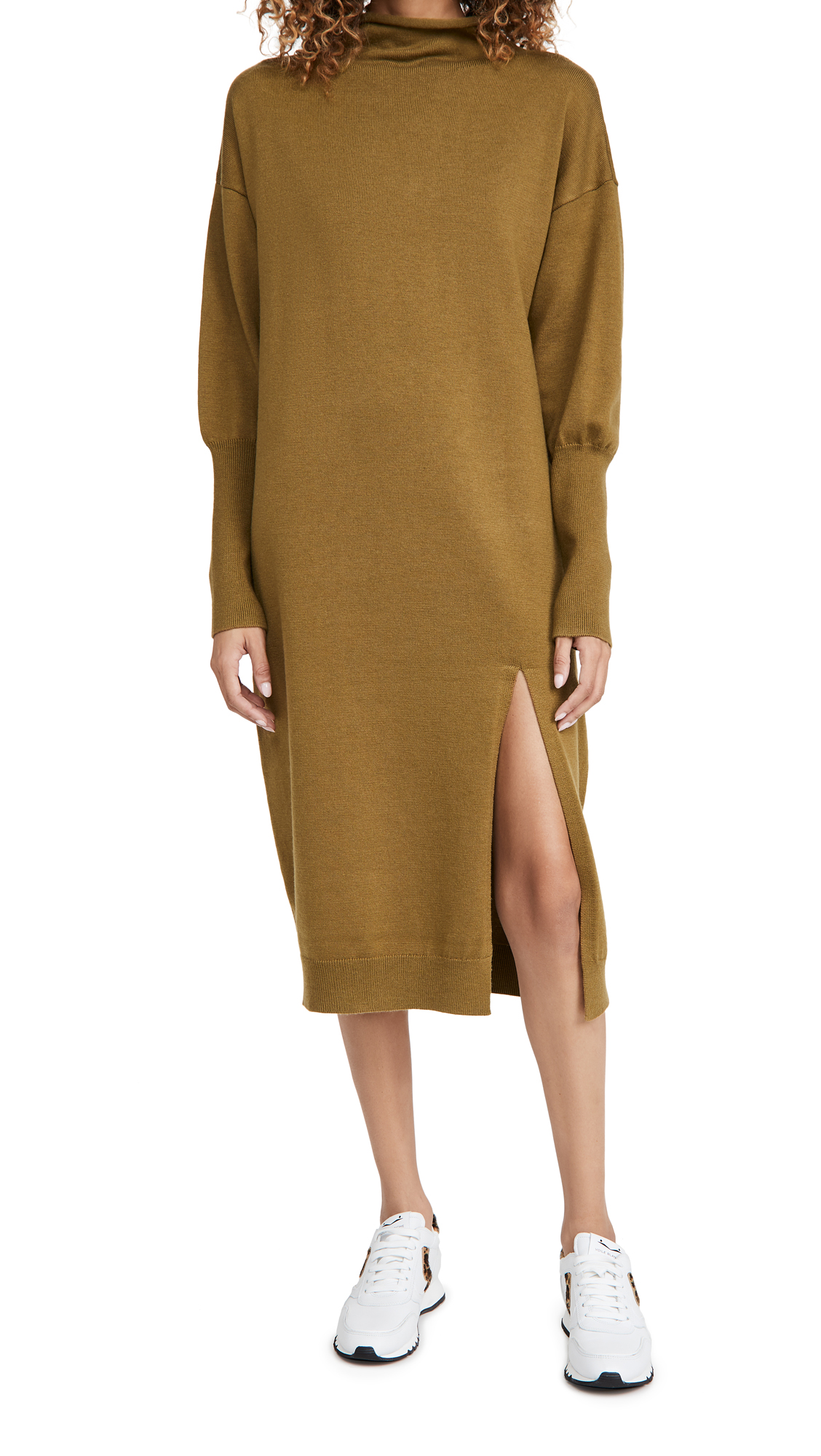 Line & Dot BEVERLY MOCK NECK LONG SLEEVE DRESS