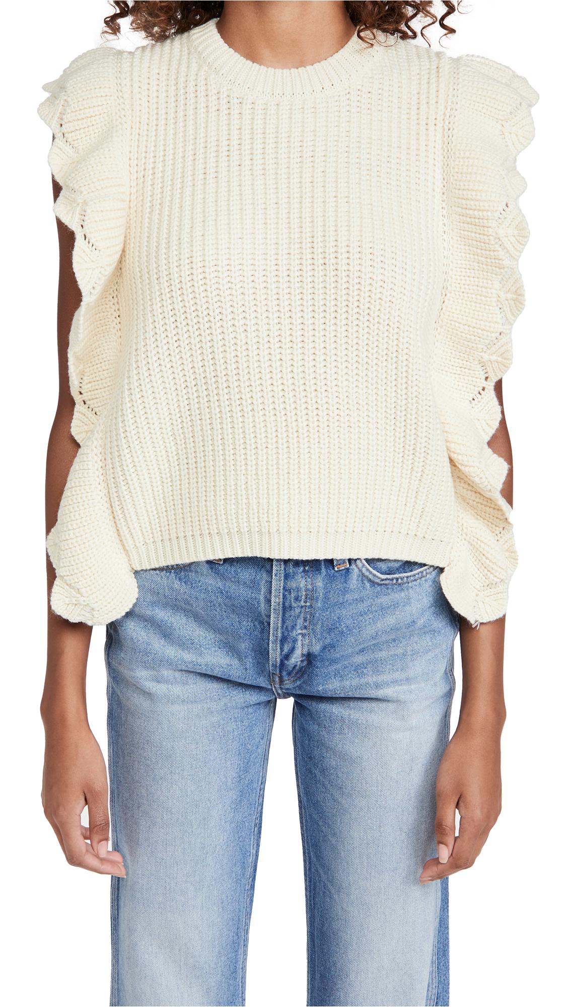 Line & Dot Juliana Sleeveless Scalloped Sweater