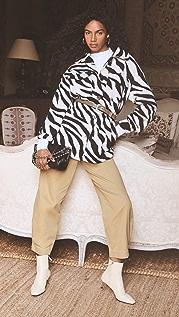 Line & Dot London Zebra 衬衣式夹克