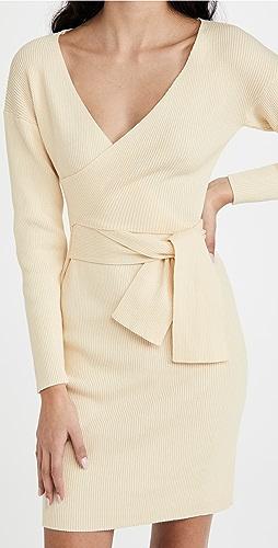 Line & Dot - Emma Wrap Sweater Dress