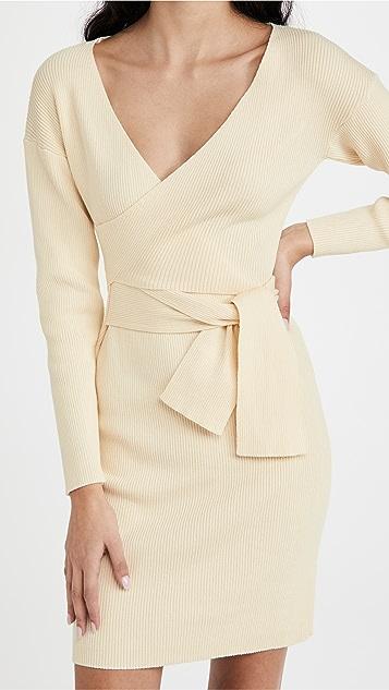 Line & Dot Emma Wrap Sweater Dress