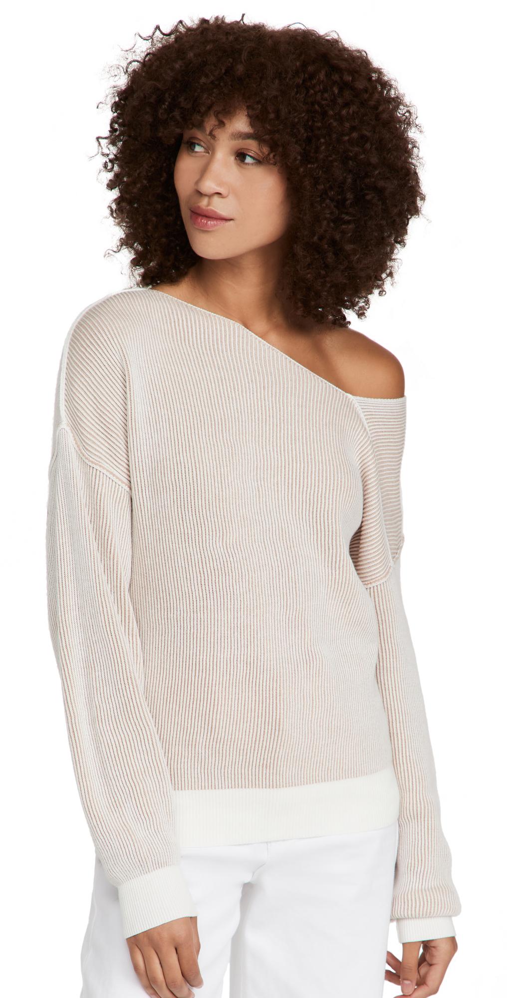 Favorite Off Shoulder Ribbed Sweater