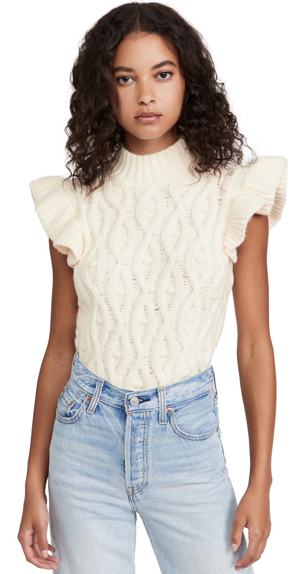 Erica Ruffle Sweater Top