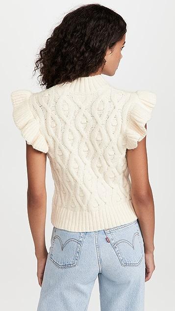 Line & Dot Erica Ruffle Sweater Top