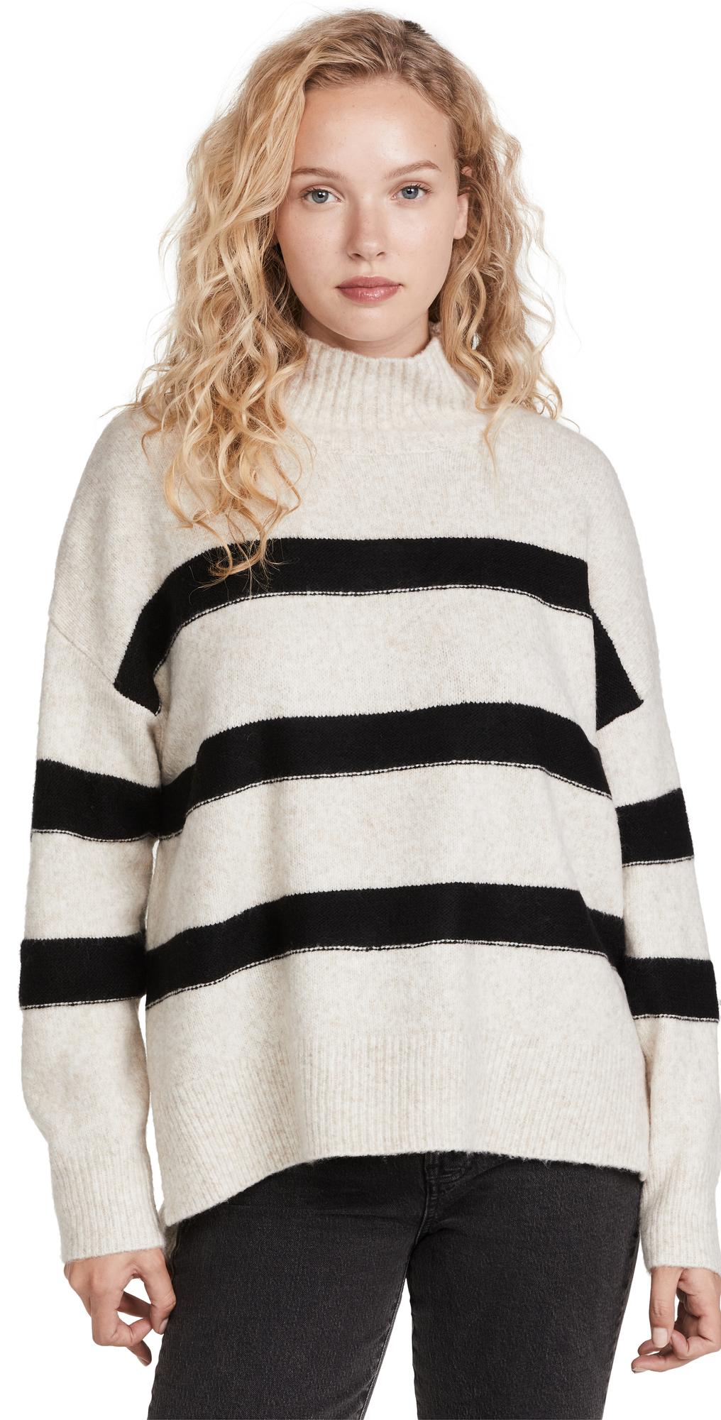 Rosie Striped Mock Neck Sweater