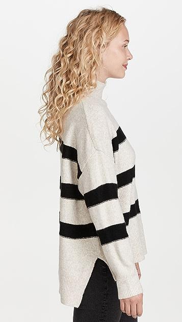 Line & Dot Rosie Striped Mock Neck Sweater