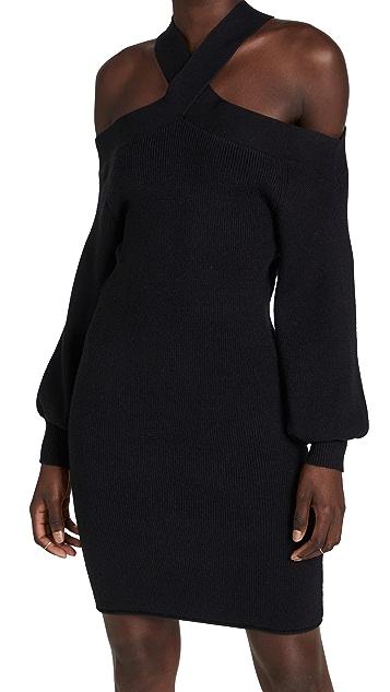 Line & Dot Ariana Cold Shoulder Sweater Dress