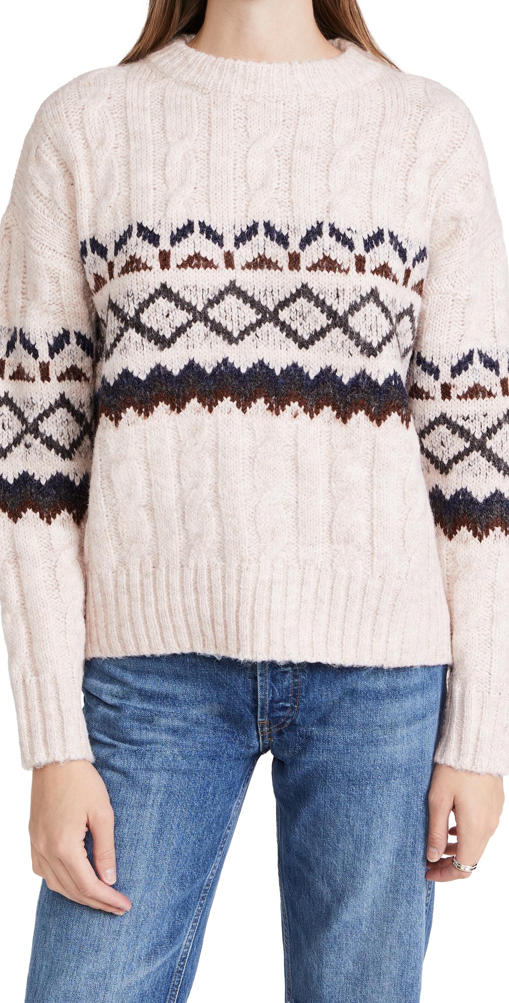 Noah Fair Isle Cable Knit Sweater