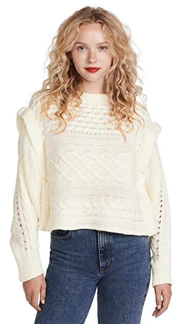 Line & Dot Mckenzie Balloon Sleeve Sweater
