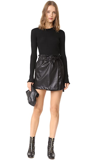 LINE Chelsea Ribbed Ruffle Pullover