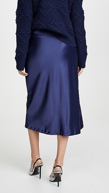 Lioness 斜纹中长半身裙