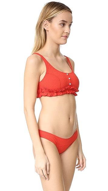 Lisa Marie Fernandez Colby Ruffle Button Down Bikini