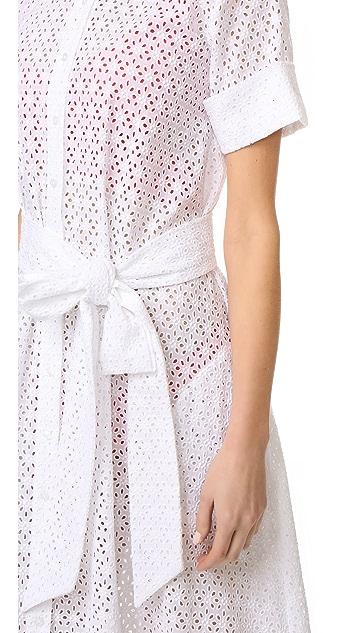 Lisa Marie Fernandez Eyelet Shirtdress