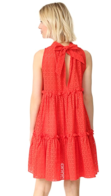 Lisa Marie Fernandez Ruffle Tier Dress