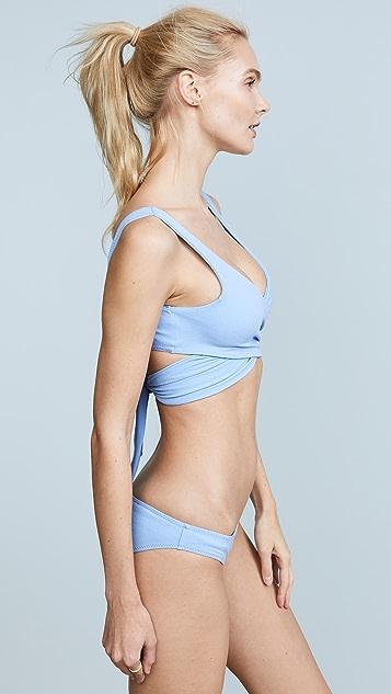 Lisa Marie Fernandez Marie-Louise Cornflower Crepe Bikini