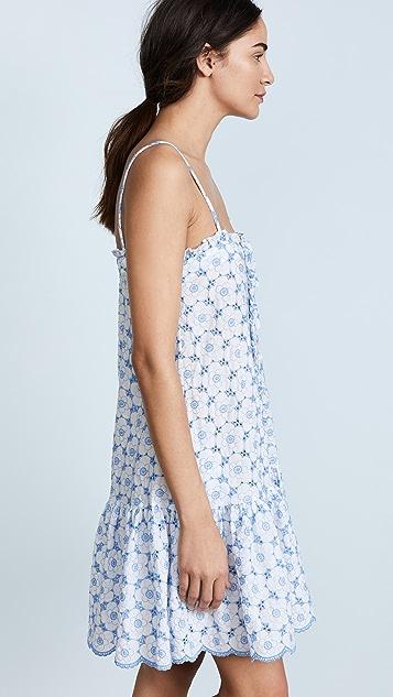 Lisa Marie Fernandez Eyelet Ruffle Slip Dress