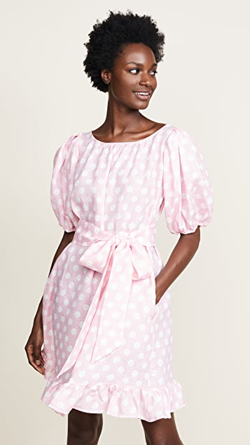Lisa Marie Fernandez Mini Linen Prairie Dress