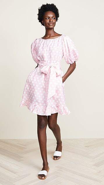 Lisa Marie Fernandez Льняное мини-платье Prairie