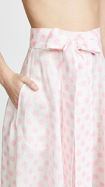 Lisa Marie Fernandez Linen Beach Skirt