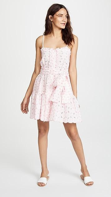 Lisa Marie Fernandez Mini Ruffle Slip Dress