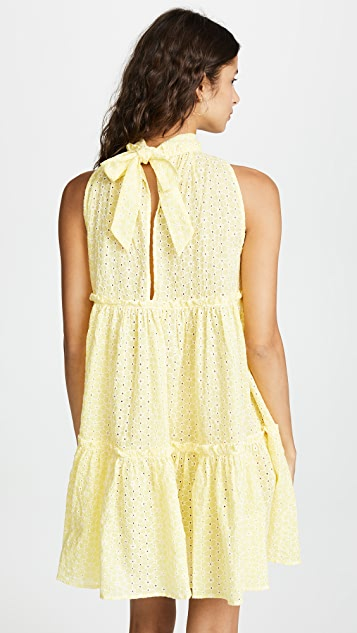 Lisa Marie Fernandez Erica Mini Ruffle Tier Dress