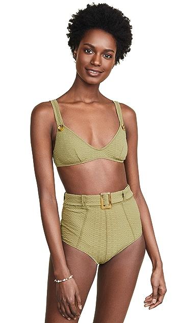 Lisa Marie Fernandez Magdalena Belted High Waisted Bikini