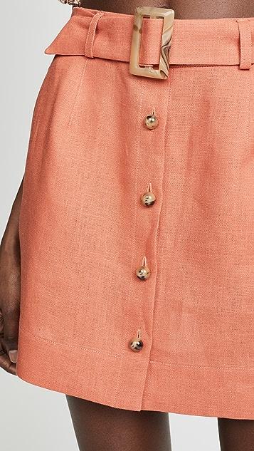 Lisa Marie Fernandez Мини-юбка с поясом