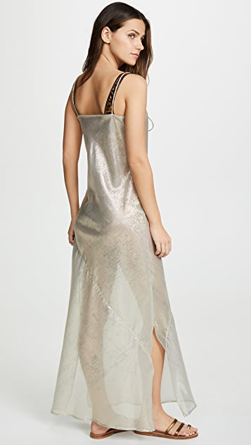 Lisa Marie Fernandez Drawstring Bias Slip Dress