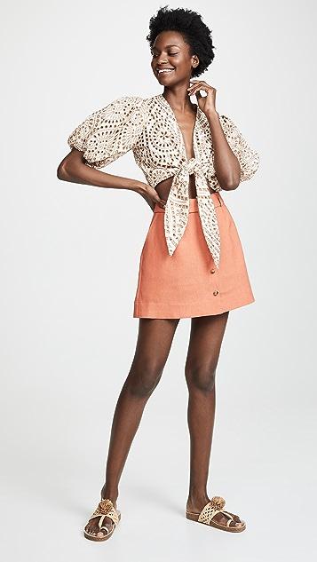 Lisa Marie Fernandez Объемная блуза с завязками с прорезями