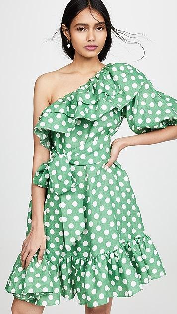 Lisa Marie Fernandez Мини-платье Arden с двойными оборками