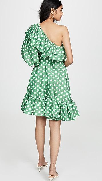 Lisa Marie Fernandez Arden Double Ruffle Mini Dress
