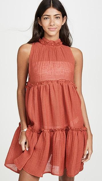 Lisa Marie Fernandez Мини-платье с оборками Erica