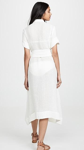 Lisa Marie Fernandez Классическое платье-рубашка
