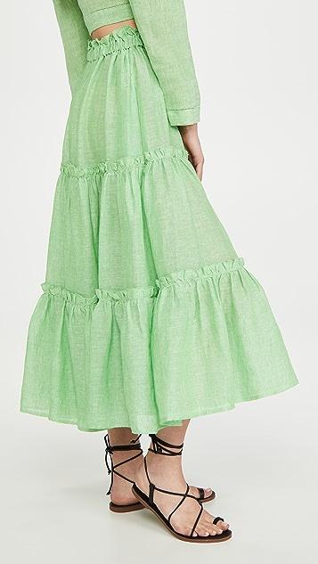 Lisa Marie Fernandez Ruffle Peasant Skirt