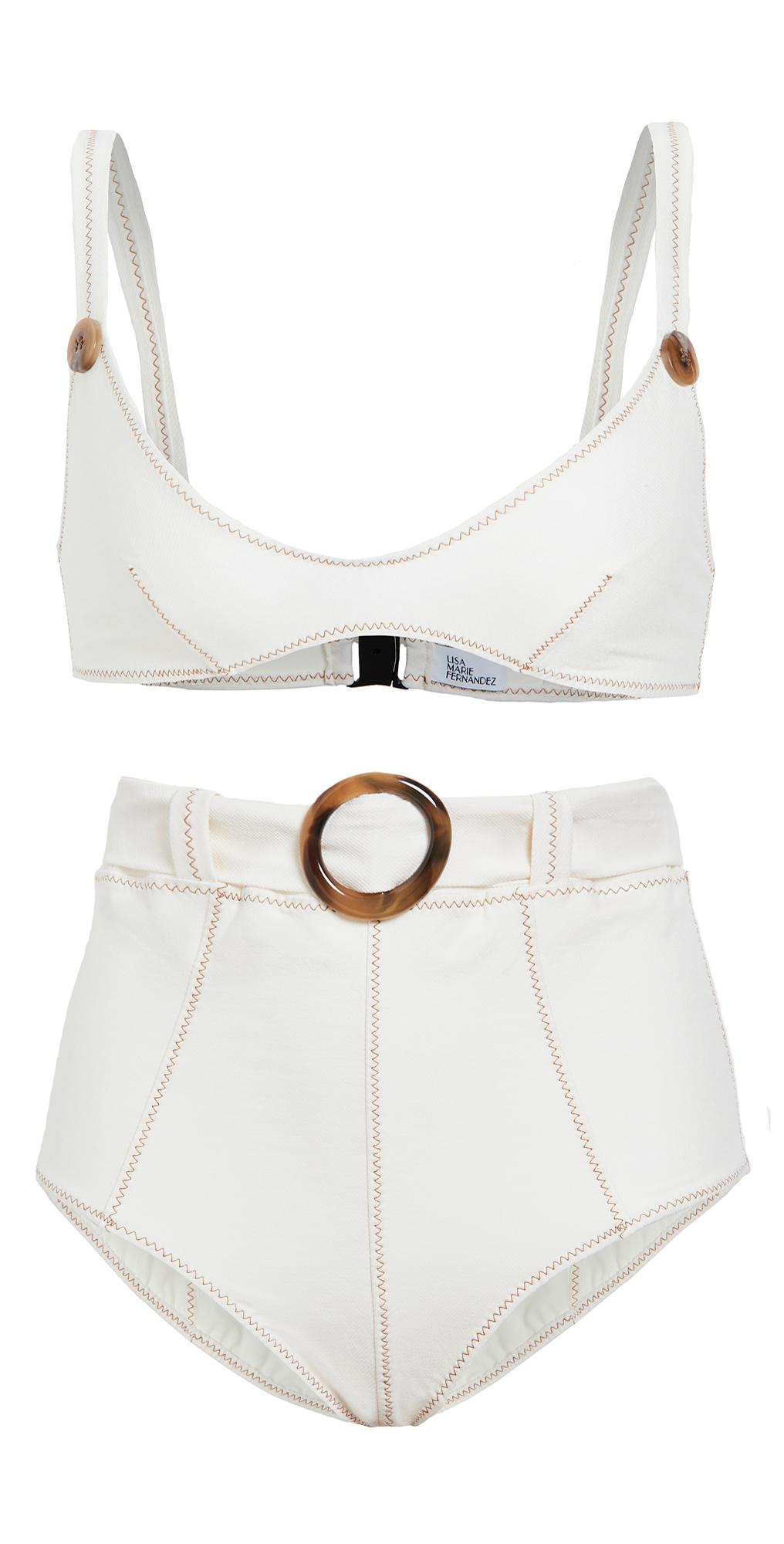 Lisa Marie Fernandez Magdalena Belted High Waist Bikini Set