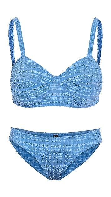 Lisa Marie Fernandez Goldwyn Bullet Bikini Set