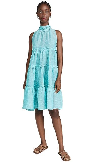 Lisa Marie Fernandez Erica Ruffle Midi Dress